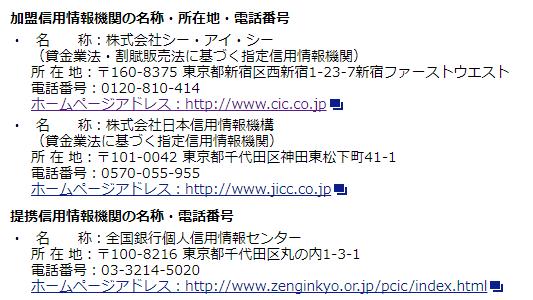 検索して出てきた公式HPより。三井住友カードは「CIC」と「JICC(日本信用情報機構)」に加盟しているようですね。