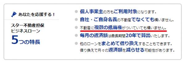 東京スター銀行公式HPより:5つの特長