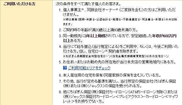 千葉銀行「プレミアクラス」の利用条件