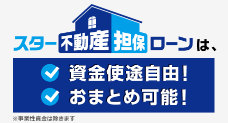 東京スター銀行公式HPより:資金使用自由・おまとめ可能