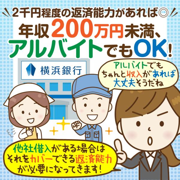 横浜銀行カードローン審査基準を徹底分析!申込はネットから