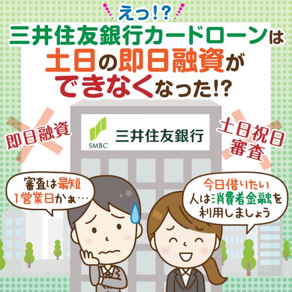 三井住友銀行カードローンは土日祝日でも融資可能? 在籍確認や必要書類は?