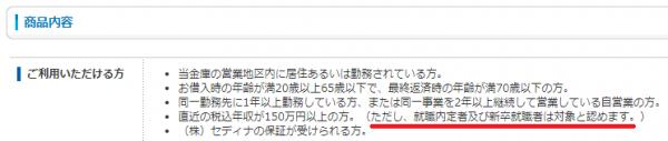 日新信用金庫自動車ローン利用条件