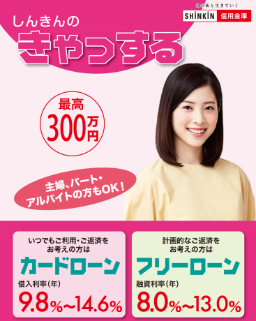 宇和島信用金庫「きゃっする」ローン広告