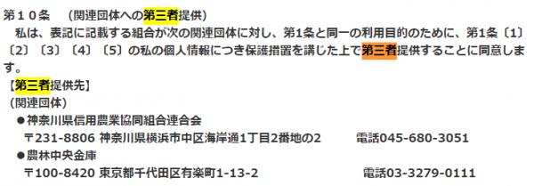 JA横浜・カードローン(三菱UFJニコス保証)の利用規約