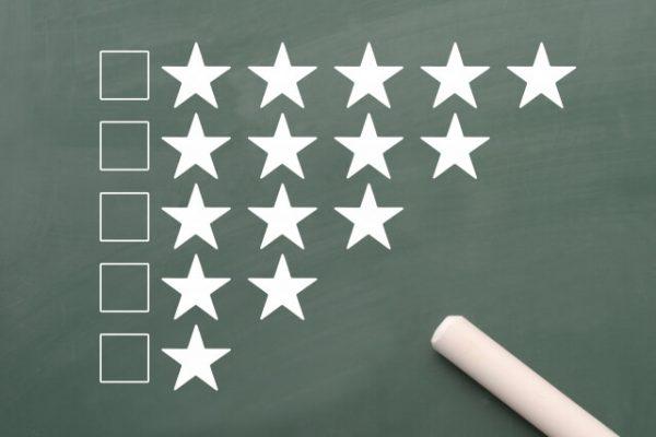 申し込み先は「プロミス」で良い?ライバル社と比べたプロミスのメリット(チョークで書いた評価の星)