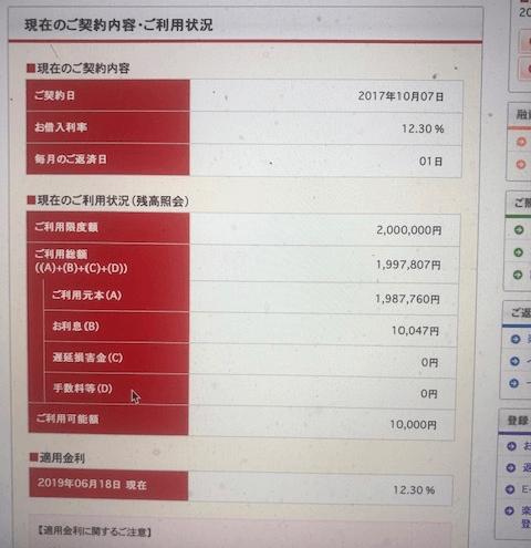 楽天銀行ユーザーEさんの会員ページスクリーンショット