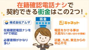 【問合せで確認】在籍確認なしの中小消費者金融(街金)は2件のみ