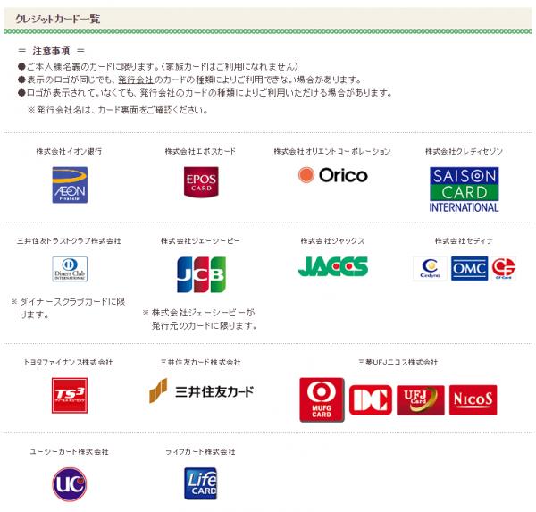 クレジットカード一覧:イオン銀行、エポスカード、オリエントコーポレーション、クレディセゾン等