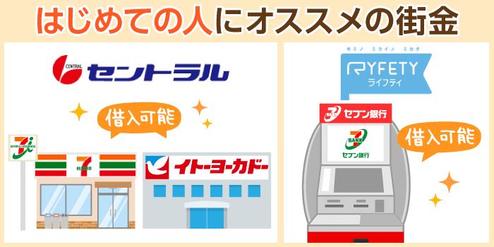 はじめての街金なら、セブン銀行ATM利用可&良対応の中堅業者がおすすめ